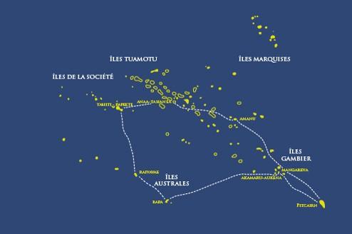 En janvier et mars 2019, l'Aranui 5 proposera cet itinéraire très original. Le bateau visitera des îles parmi les plus isolées de Polynésie, mais avec une histoire et une culture riche. Il ira surtout à Pitcairn, l'île des mutins de la Bounty, qui passionne les touristes.
