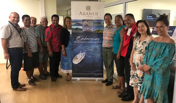 Les maires des îles du trajet ont profité du Congrès des maires pour venir rencontrer l'armateur de l'Aranui 5