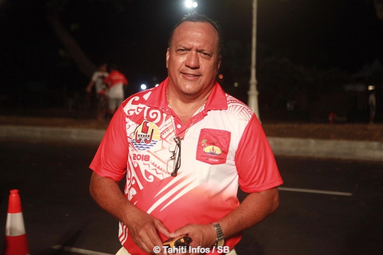 Teva Bernadino, président de la fédération tahitienne de cyclisme