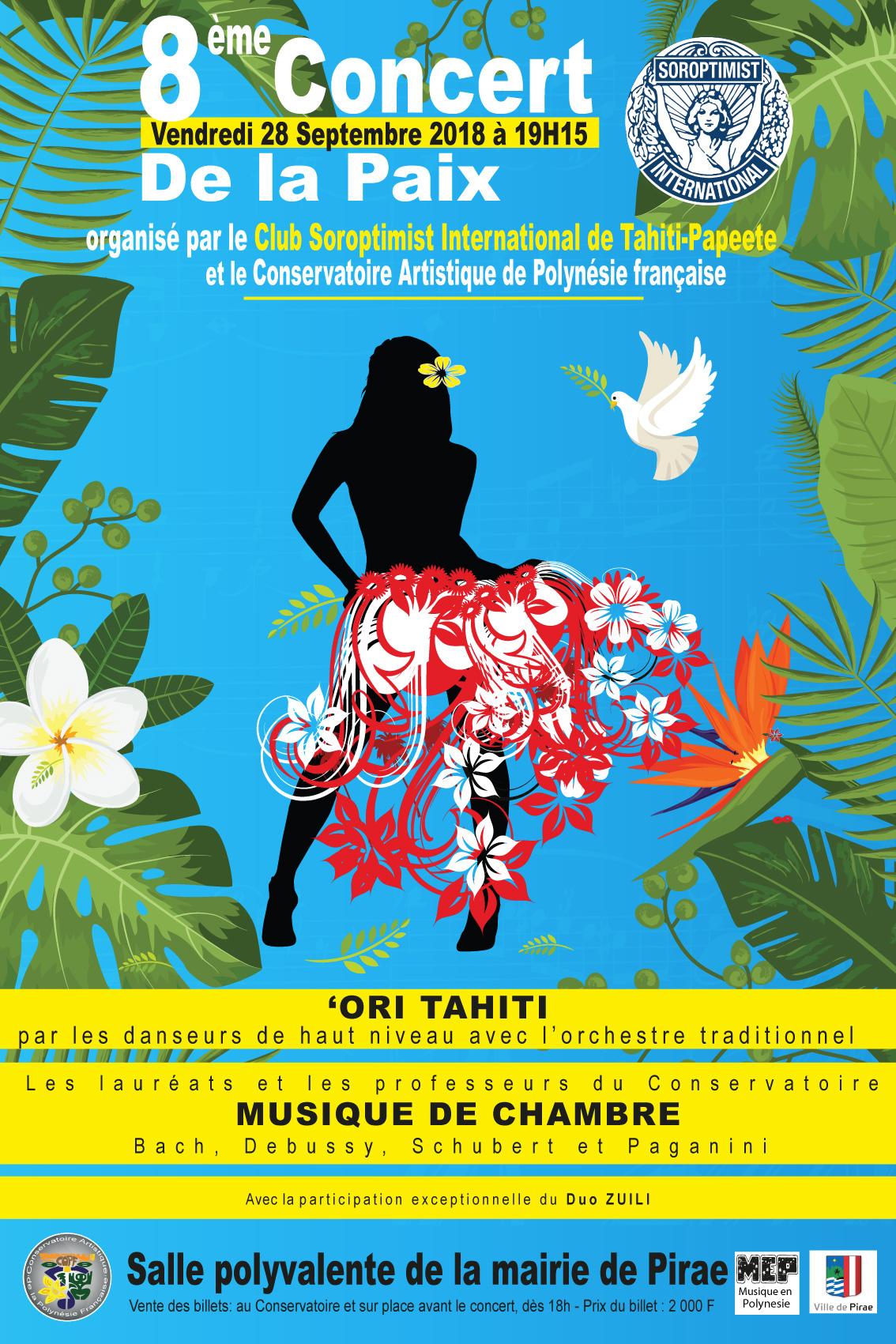 La 8e édition du Concert de la paix aura lieu vendredi