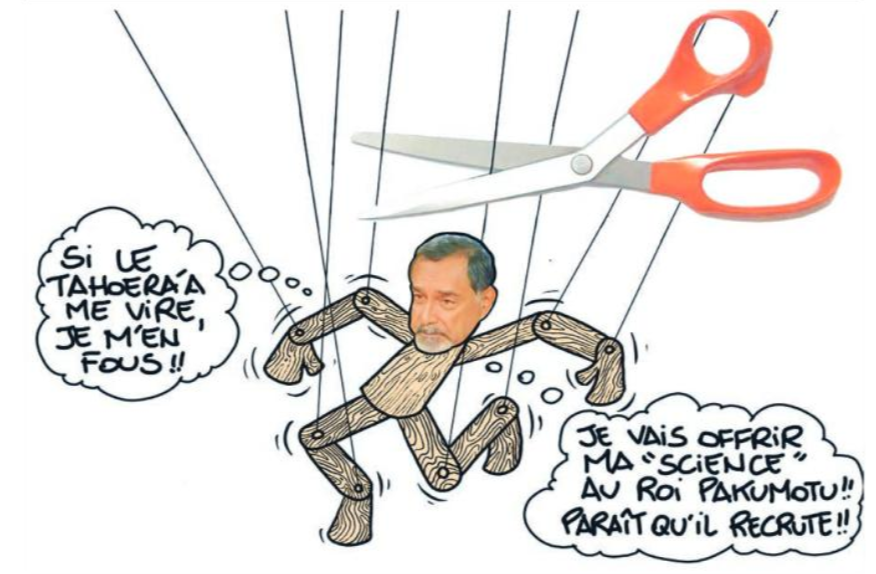""""""" Frébault exclu du Tahoera'a """" vu par Munoz"""