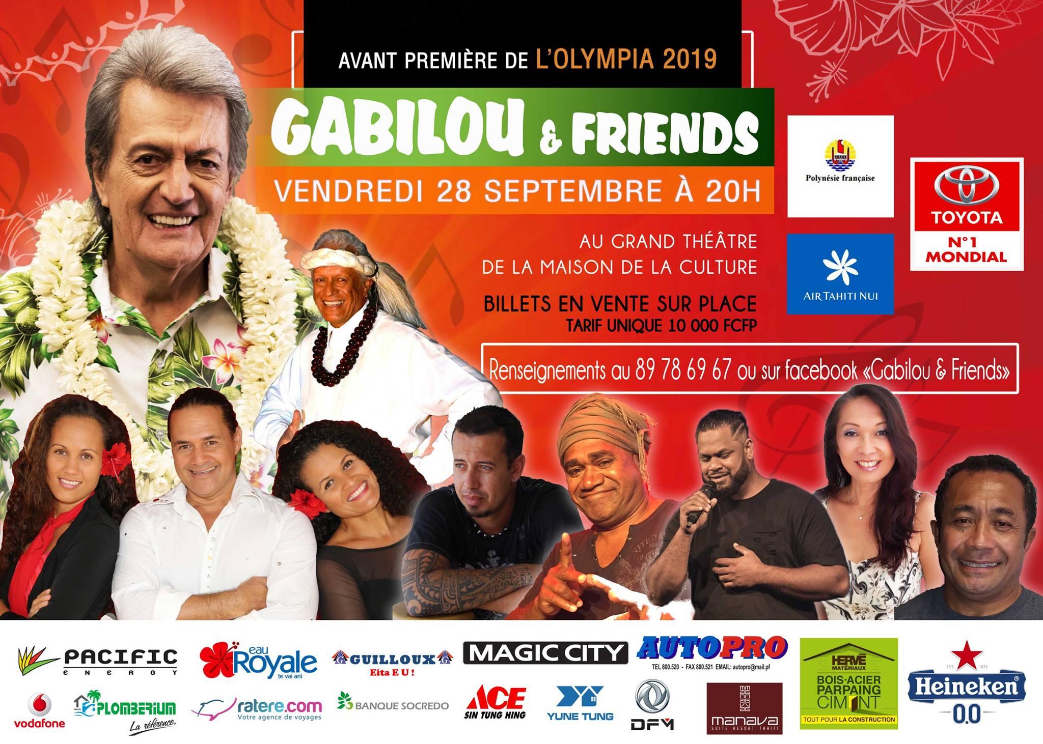 Gabilou & Friends, le spectacle de l'Olympia en avant-première
