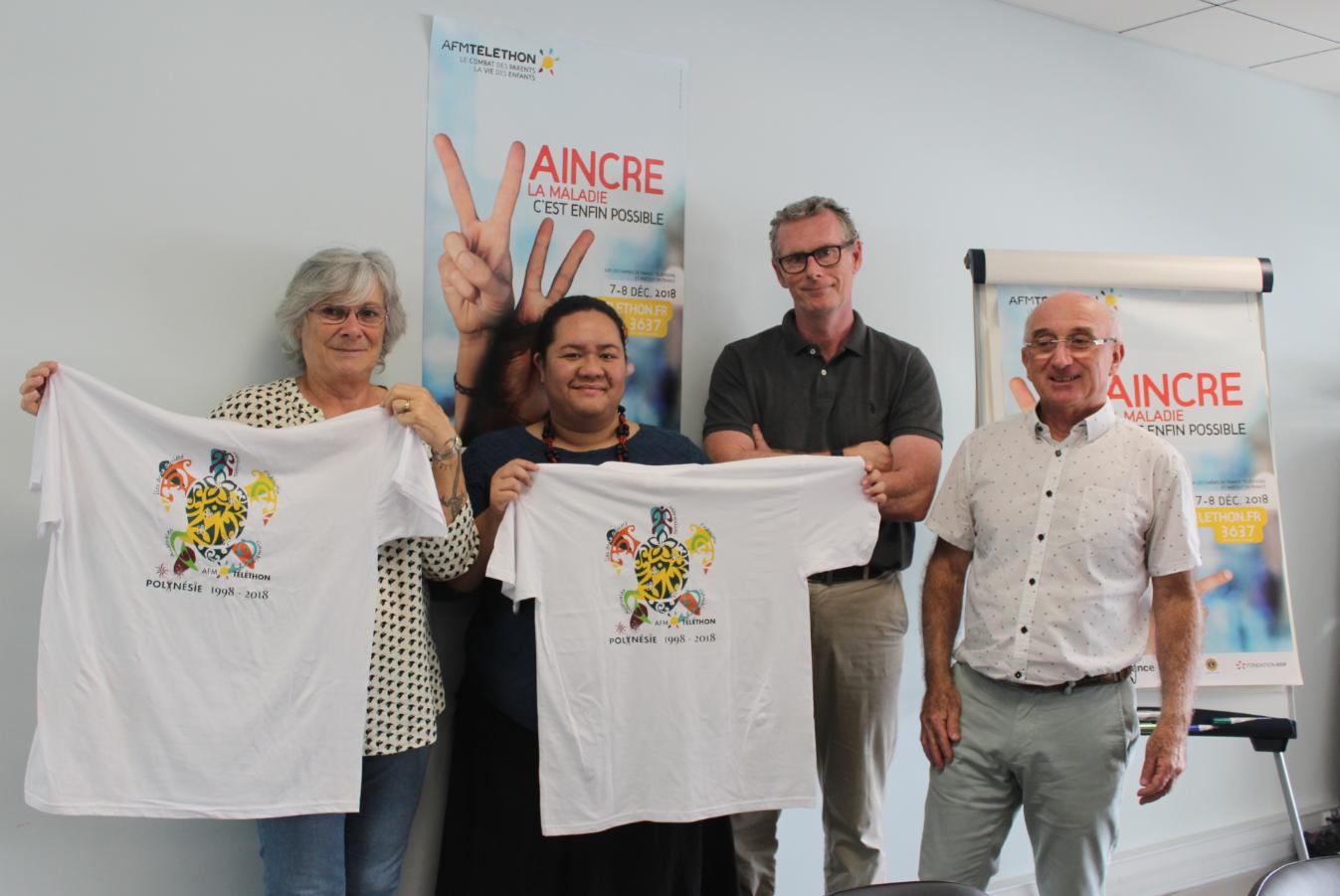 Une partie de l'équipe de coordination de Téléthon Polynésie.