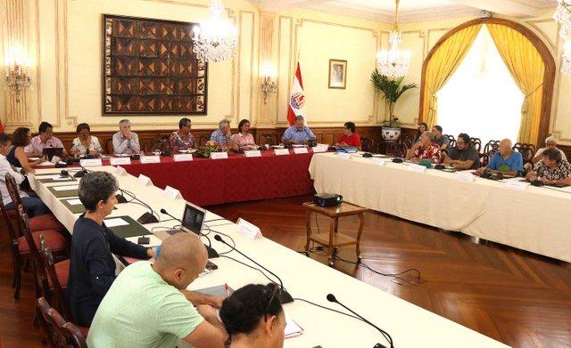 En attendant l'arrivée des membres de cette commission, les représentants du Coscen se sont retrouvés, mardi après-midi, à la Présidence.