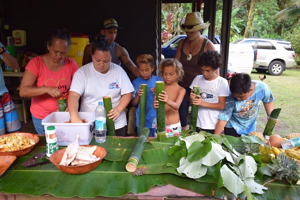 Parc Te Faaiti : un week-end de découverte pour six familles de Arue