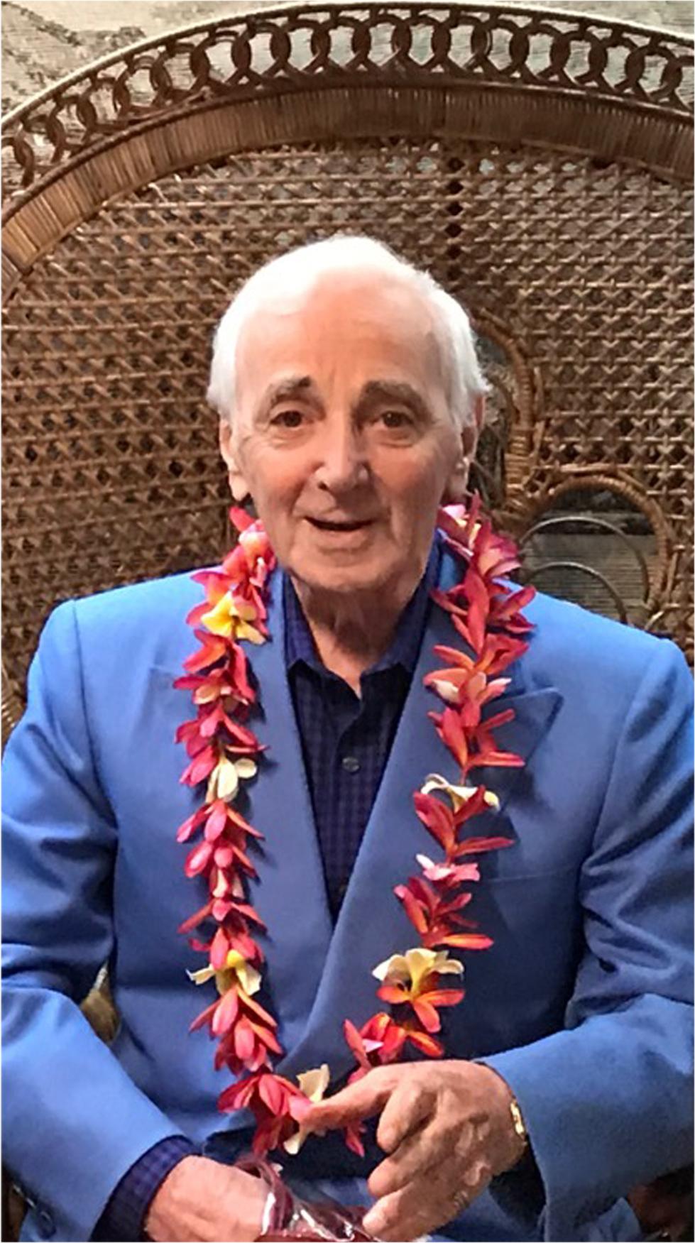 Charles Aznavour à son arrivée à Tahti Fa'a ( photo 4 events pacific)