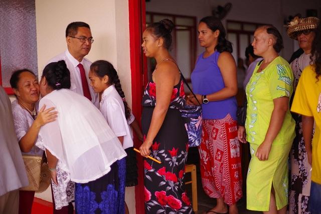Godfrey Marcus, pasteur, à l'église de la Vallée du Tir, un lieu très important pour une bonne partie de la communauté tahitienne.