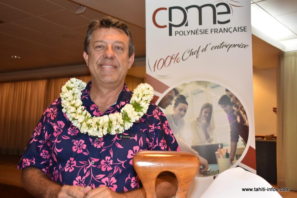 Christophe Plee, président de la Confédération des petites et moyennes entreprises, vendredi lors de l'assemblée générale de l'organisation patronale.
