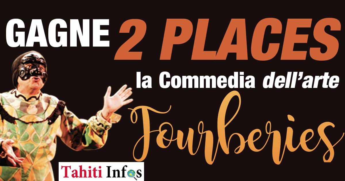 Jeu du 8 au 10 octobre 2018 - Gagne deux places pour Fourberies de la Commedia del Arte