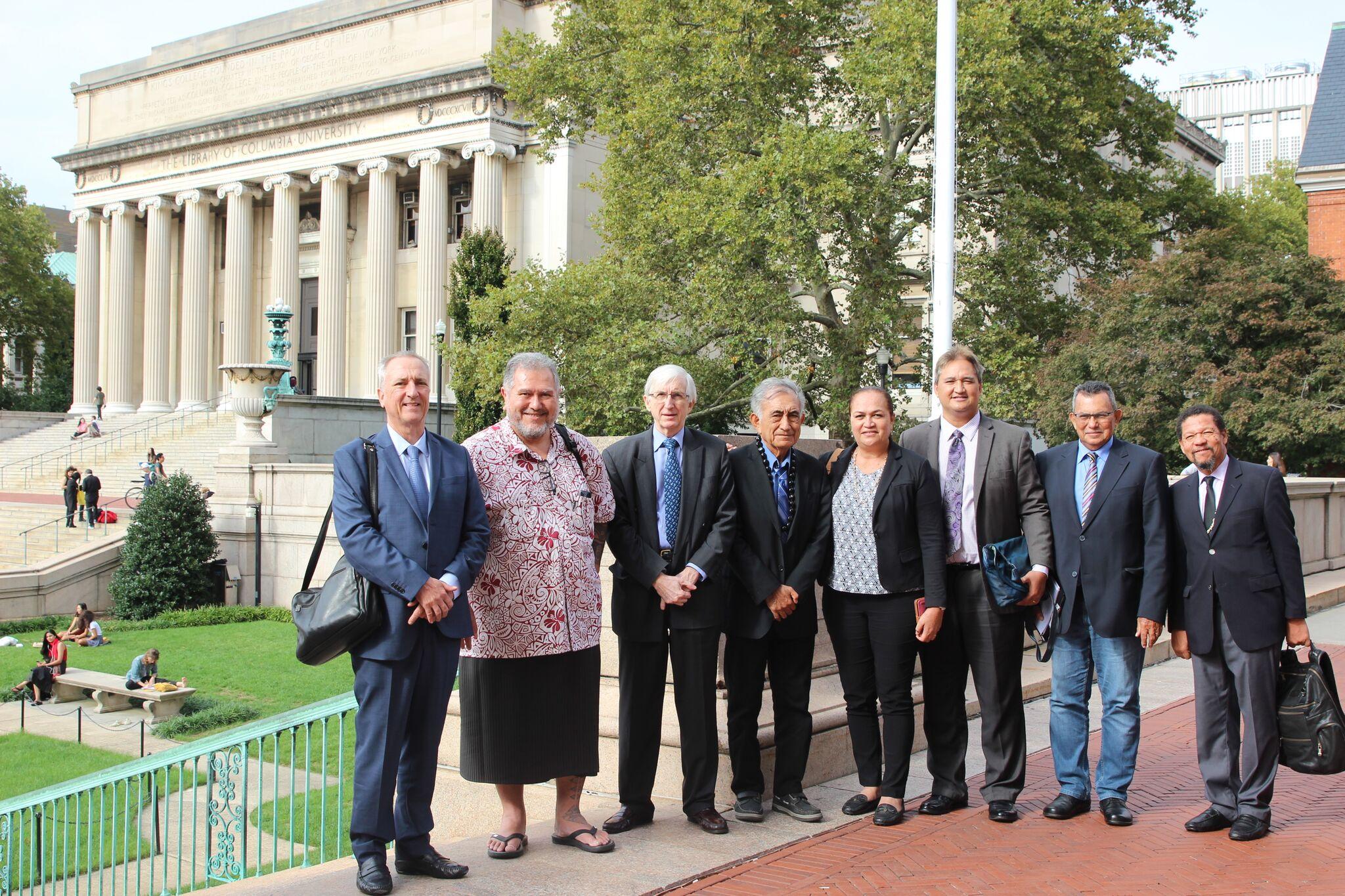 Le leader souverainiste polynésien est à New York où il doit intervenir ce mardi devant la 4e commission de l'ONU. Samedi, il a donné une conférence à l'université Columbia, sur les conséquences en Polynésie des essais nucléaires français dans le Pacifique.