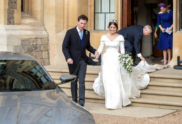 Eugenie, la petite-fille d'Elizabeth II, se marie à Windsor