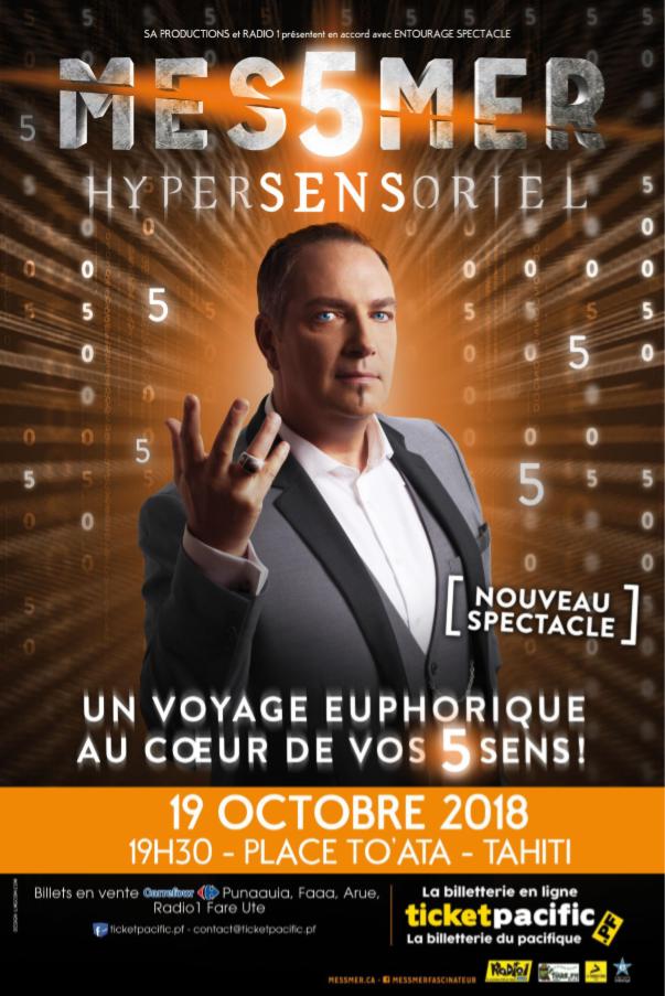"""Messmer, """"l'ambassadeur"""" de l'hypnose sur scène à To'ata"""