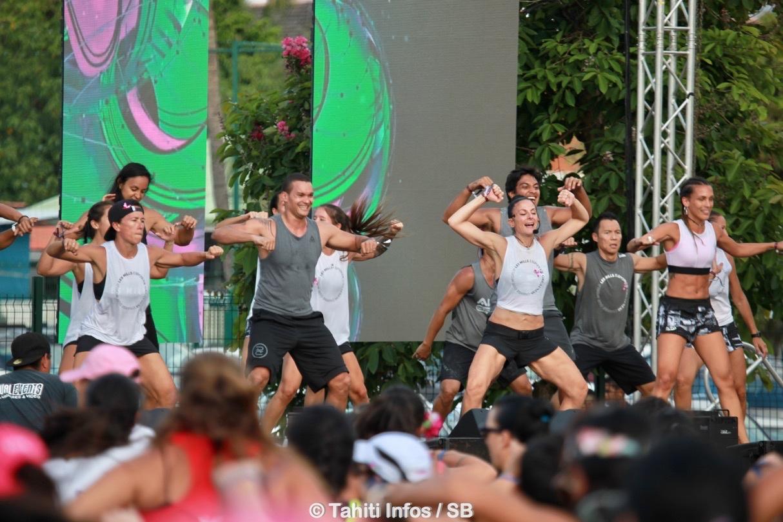 Les coachs des salle de fitness de Tahiti se sont relayés