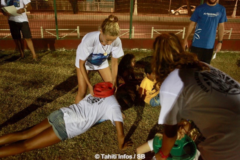Des entrainements physiques sont réalisés à Tipaerui et à Papara