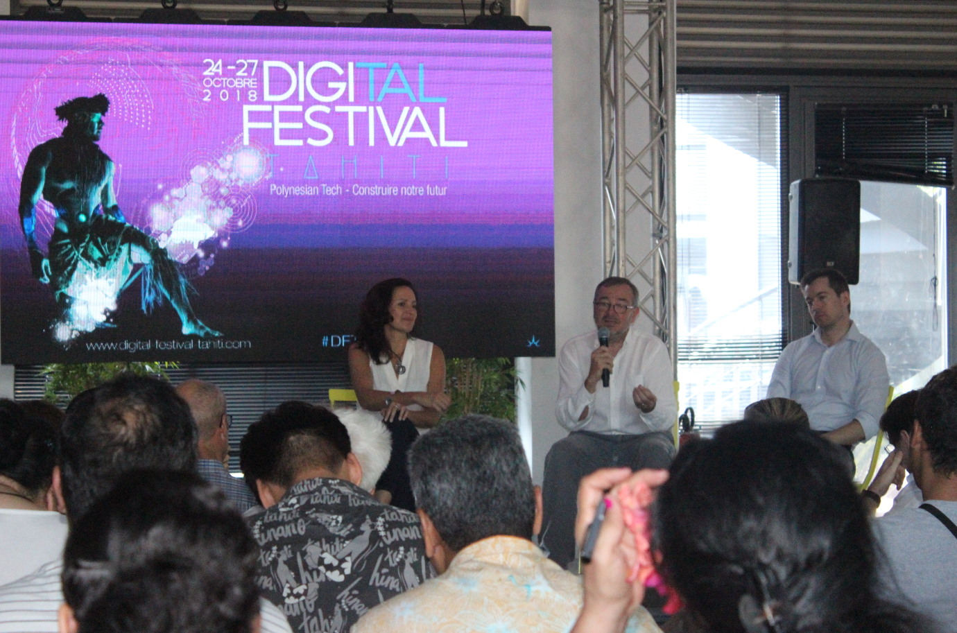 """La seconde édition du Digital Festival Tahiti """"#DFT2018"""" se déroule jusqu'au 27 octobre."""