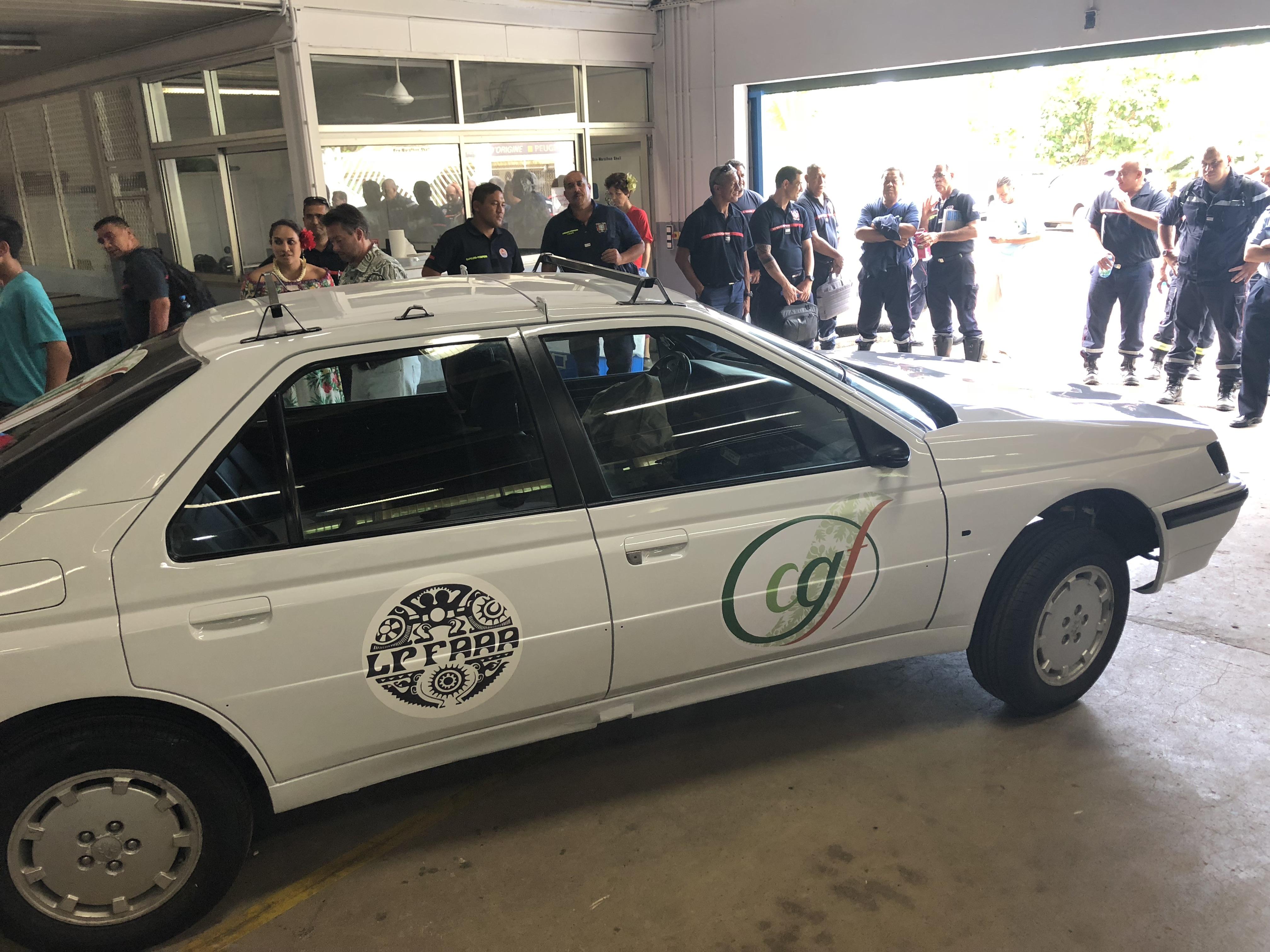 """Une """"voiture lego"""" pour s'entrainer à l'extraction des victimes"""