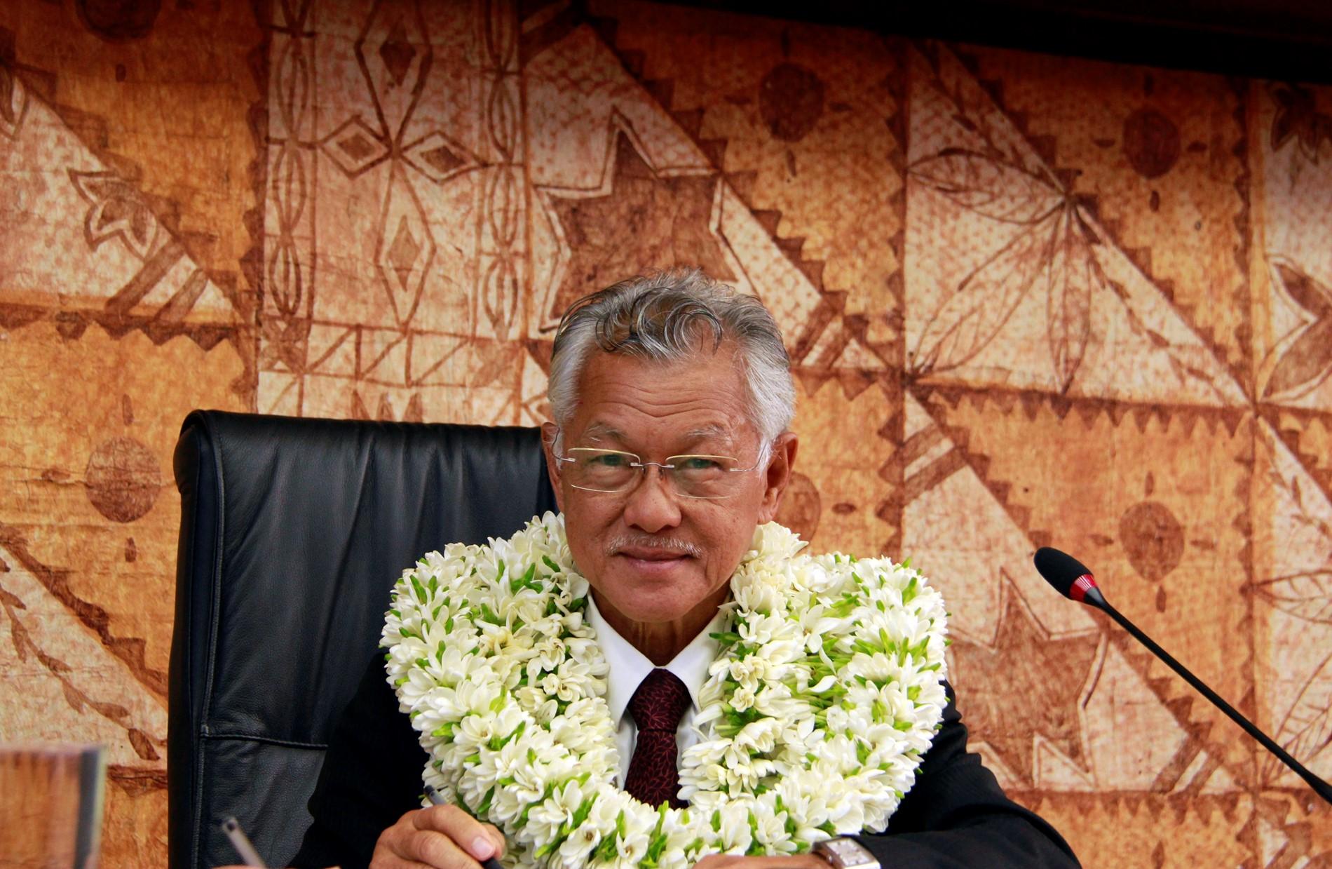 """Gaston Tong Sang """"salue la ténacité et l'opiniâtreté des membres de la famille de Pouvana'a a Oopa"""""""