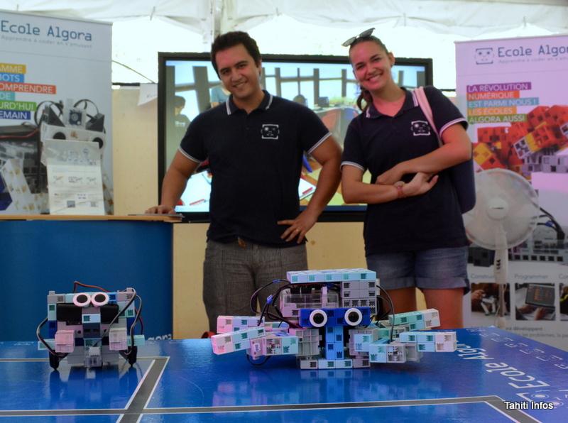 Ces petits robots sont utilisés par l'école Algora pour enseigner l'électronique et la programmation aux enfants Polynésiens.