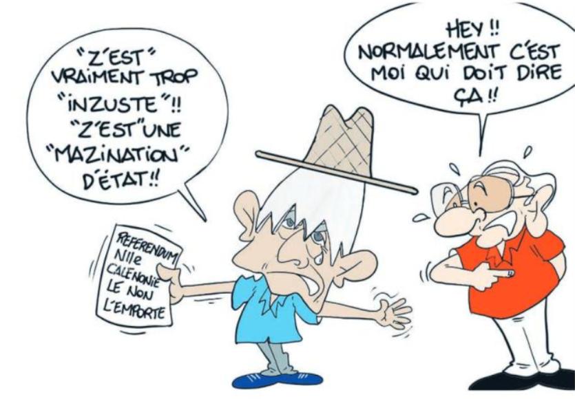 """"""" Le Référendum en Nouvelle-Calédonie """" vu par Munoz"""