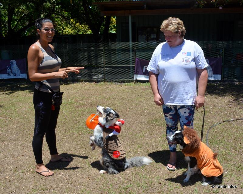 Lisa et Virginie ont partagé leurs conseils pour dresser les chiens. Les chiens sont déguisé car nous les avons rencontré juste avant Halloween !