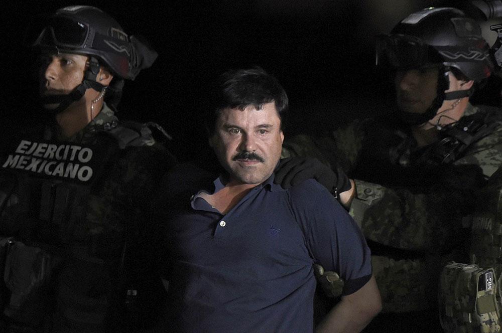 """Le narcotrafiquant """"El Chapo"""" en procès à New York sous haute sécurité"""