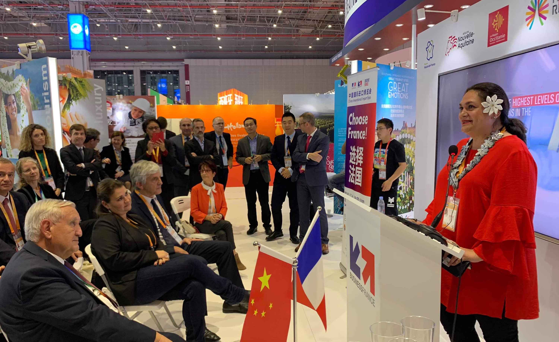 La Polynésie française présente à l'Exposition Internationale de l'Importation de Chine