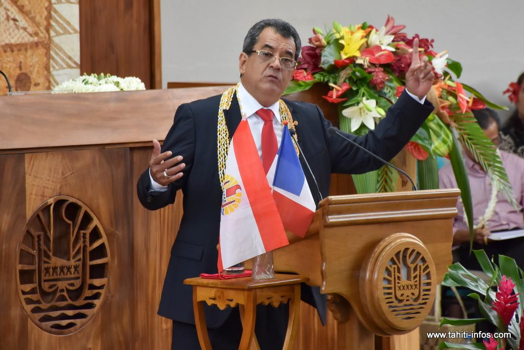 Edouard Fritch récupère la qualité d'ordonnateur des comptes du Pays