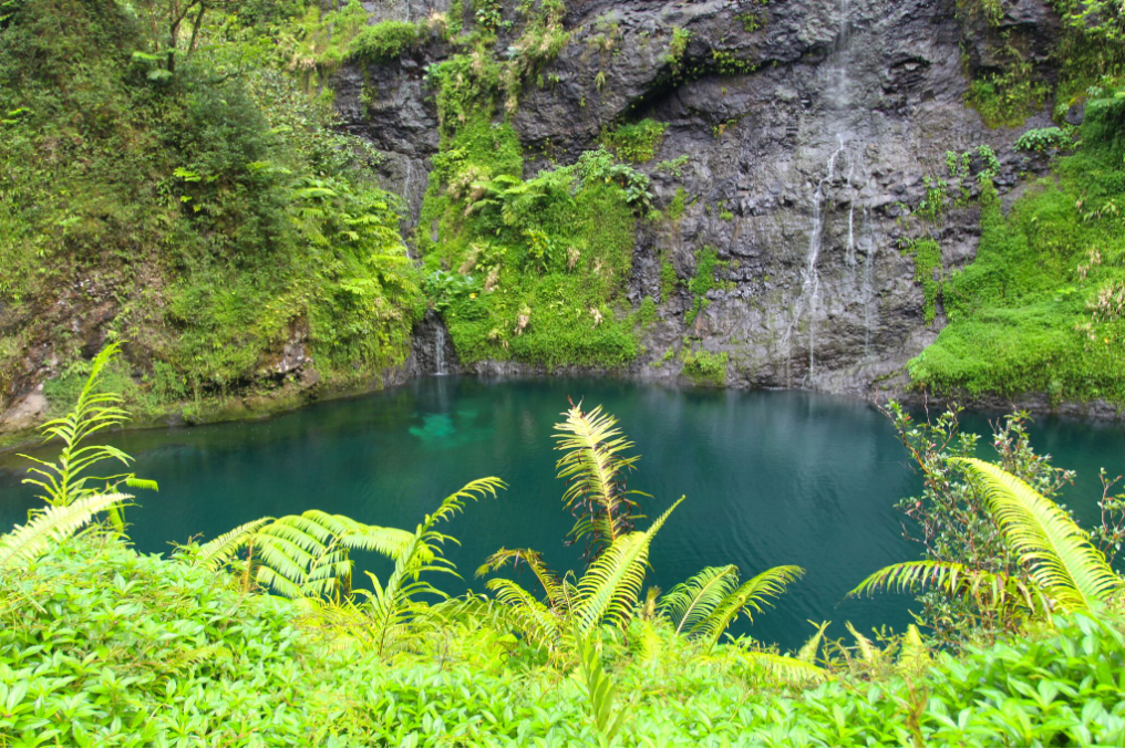 Les eaux de la Vaihiria sont très claires et les bassins le long de la piste prennent de allures de piscine (la plupart sont interdits d'accès car relevant des installations d'hydro-électricité.
