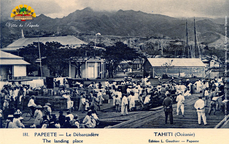 D'après une carte postale, Cl. An, Fds Christine Duchateau, Coll. Commune de Papeete