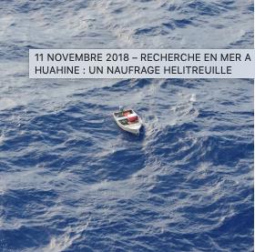 Huahine : un naufragé hélitreuillé, rappel des règles de sureté