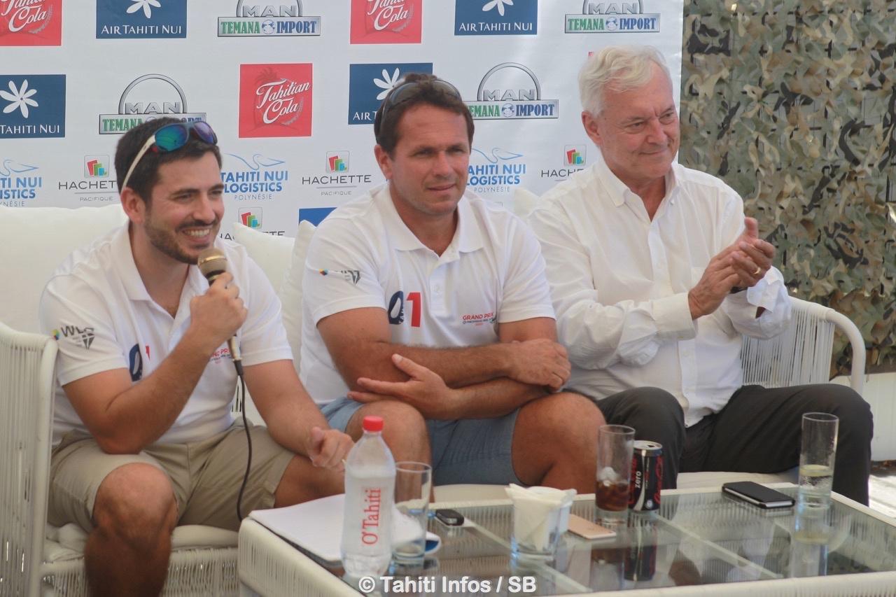 Emmanuel Versace, Teva Plichart et Hughes Riedinger de la Pacifique des Jeux