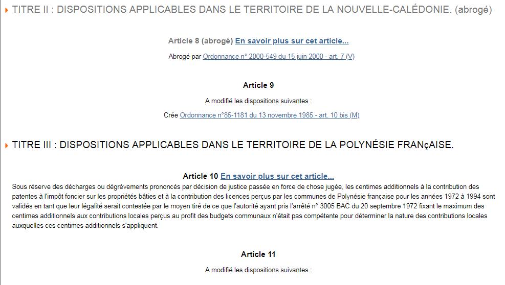 Loi française : sera-t-il bientôt facile de comprendre ce qui est applicable en Polynésie ?