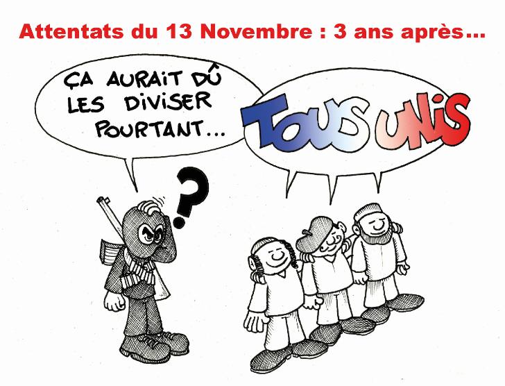 """"""" Hommage aux victimes du 13 Novembre """" par Munoz"""