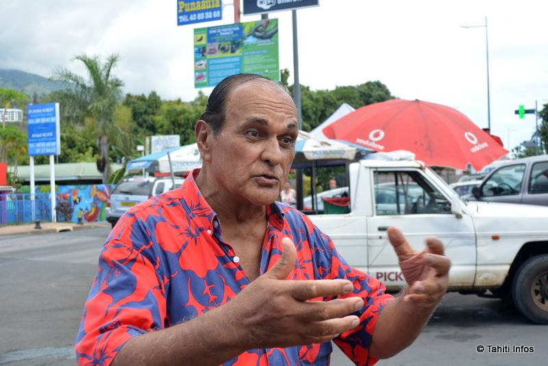 Bertho Roomataaroa, membre du conseil municipal de Paea