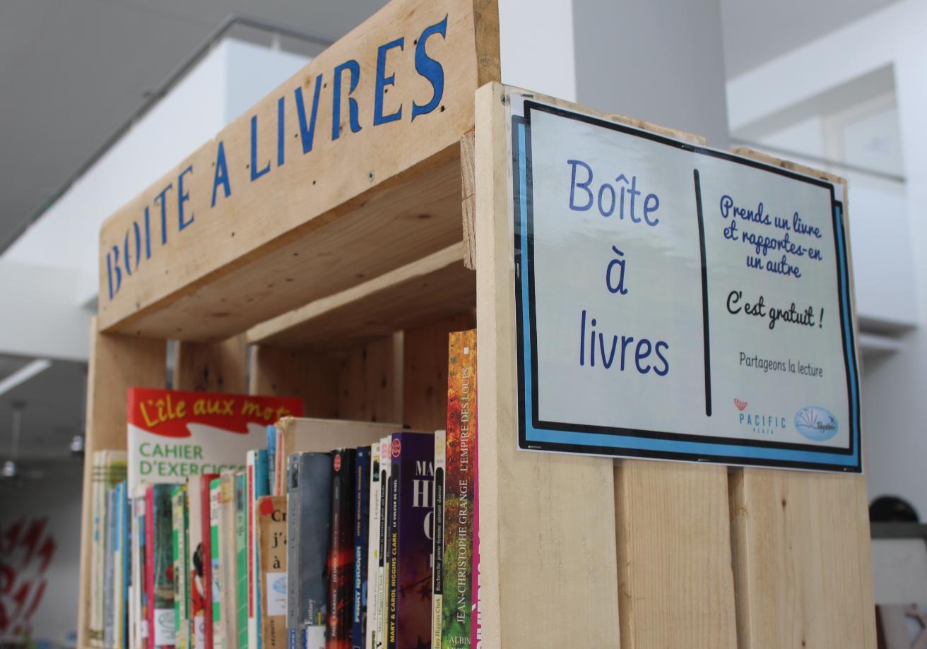 Fa'a: Une boîte à livres débarque au Pacific Plaza