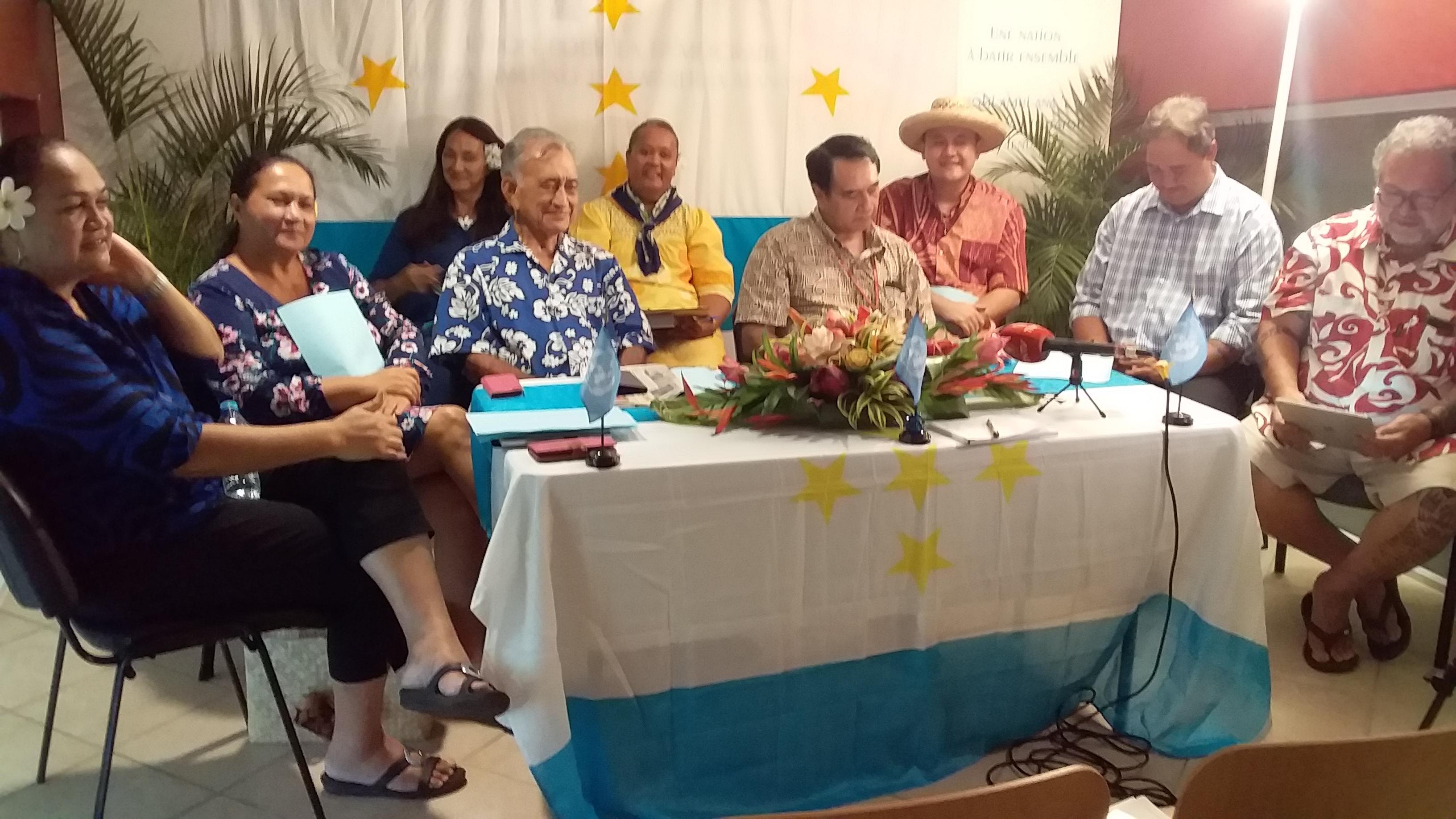 Le Tavini demande une modification de la Constitution pour lancer le processus de décolonisation