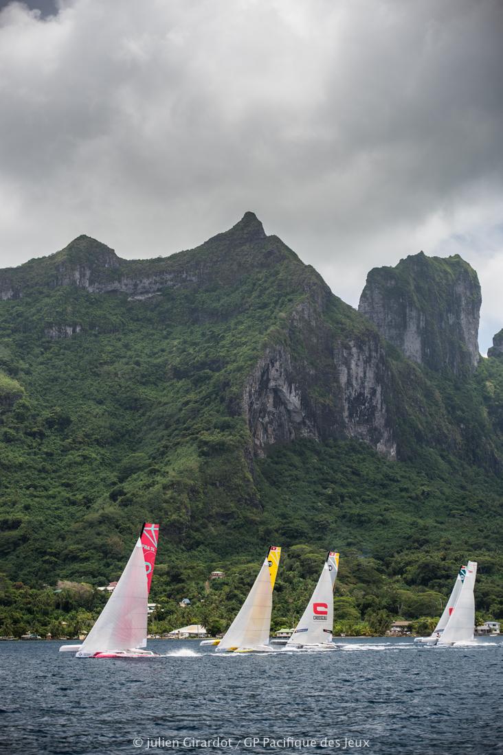 La dernière étape s'est déroulée à Bora Bora