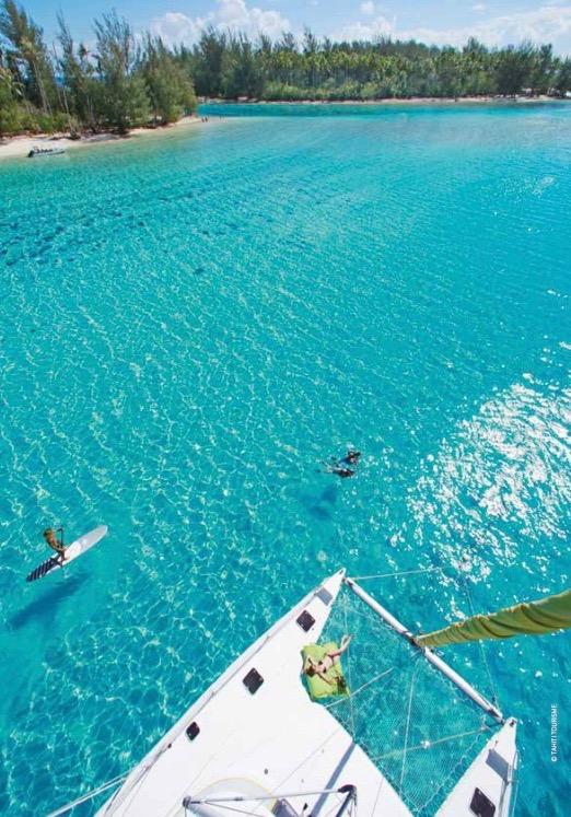 La Polynésie française se prête à merveille à la nage en eau libre