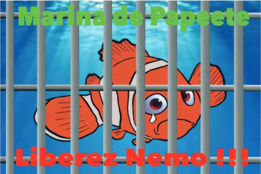 """"""" Le parc à poissons de la marina de Papeete """" vu par Munoz"""