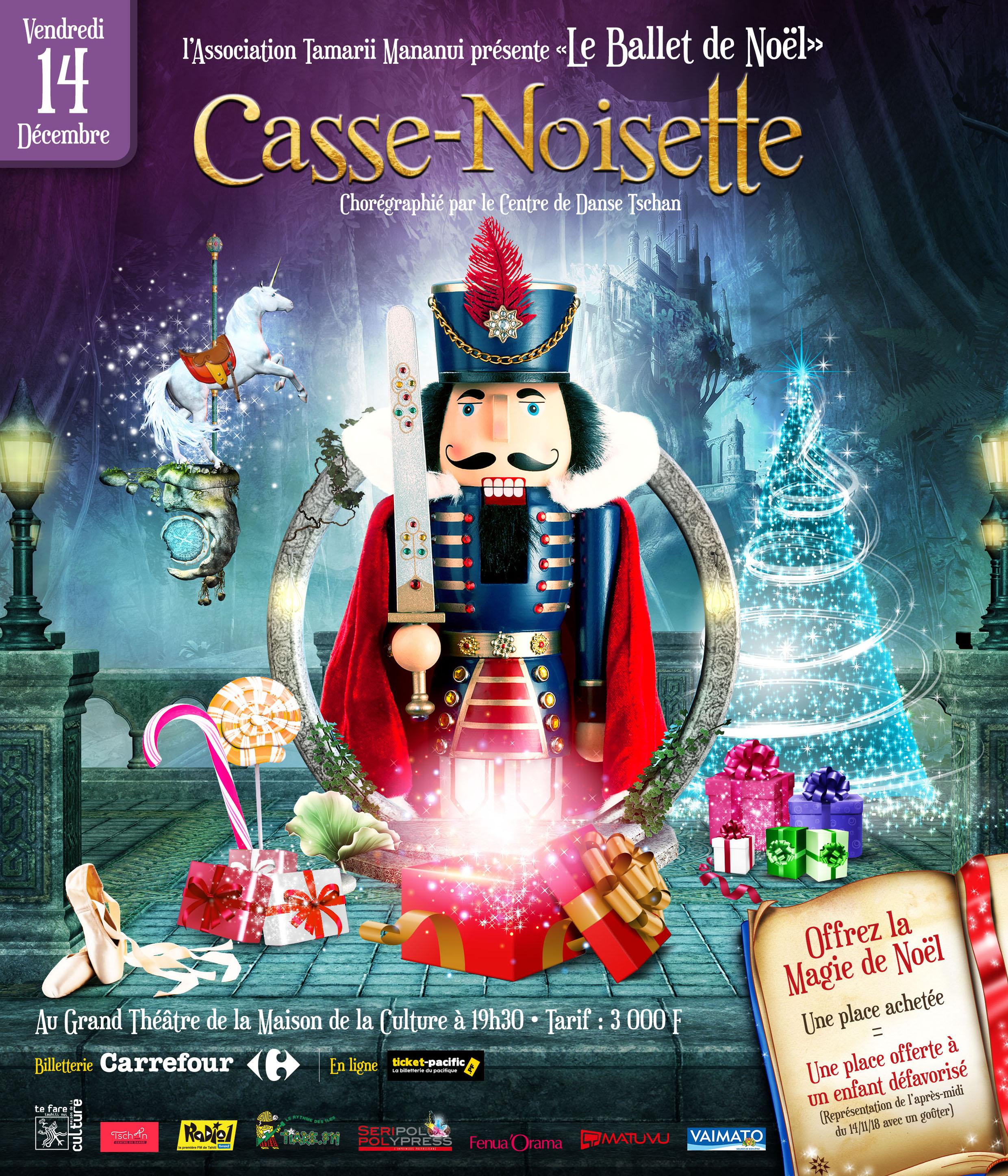 Page enfant : Casse-noisette au Grand théâtre de la maison de la culture