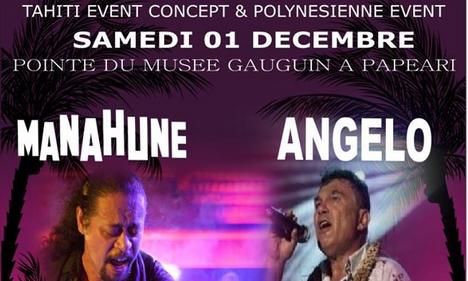 Manahune et Angelo en live à la Pointe du musée Gauguin