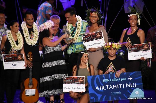 La troupe de Manohiva repart avec le grand prix Tapairu.