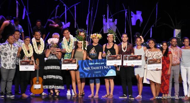 Les lauréats dans la catégorie Tapairu.