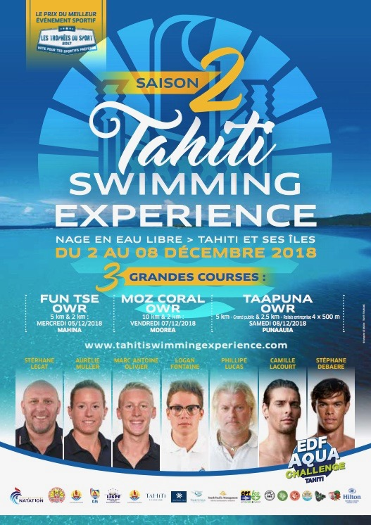 "Nage en eau libre - Tahiti Swimming Experience : "" Une discipline très tendance """