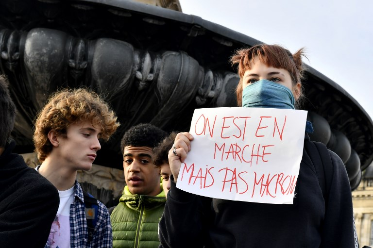 Des milliers de lycéens dans la rue à Marseille et Nice, deux blessés légers à Béziers