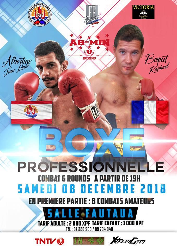 Boxe pro - Jean Louis Albertini vs Raphaël Boquet : Le combat promet d'être explosif
