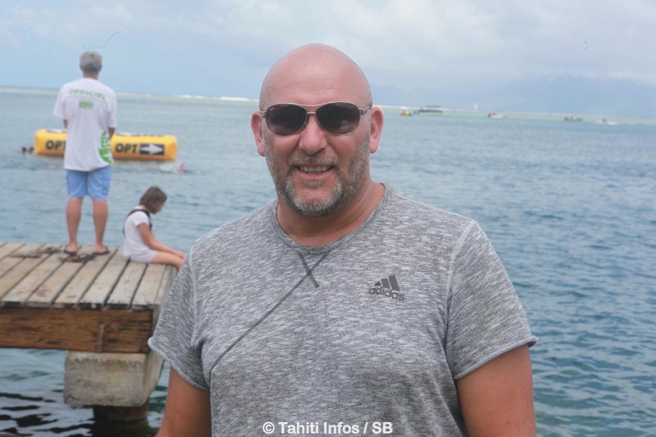 Stéphane Lecat, directeur sportif eau libre à la FFN