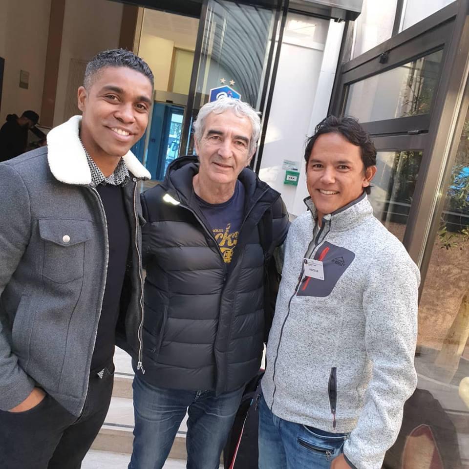Marama Vahirua avec Raymond Domenech