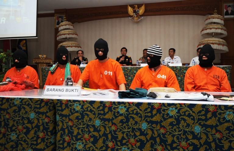 Cinq étrangers arrêtés à Bali pour possession de drogue