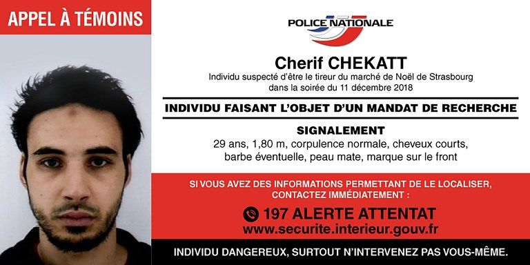 Chérif Chekatt a été abattu par la police à Strasbourg